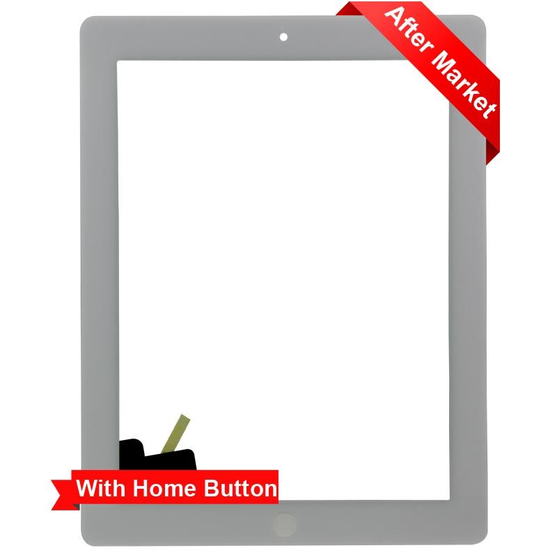 Glass Touch Screen Digitizer W// Home Button Assembly for iPad 2 2nd Gen White US