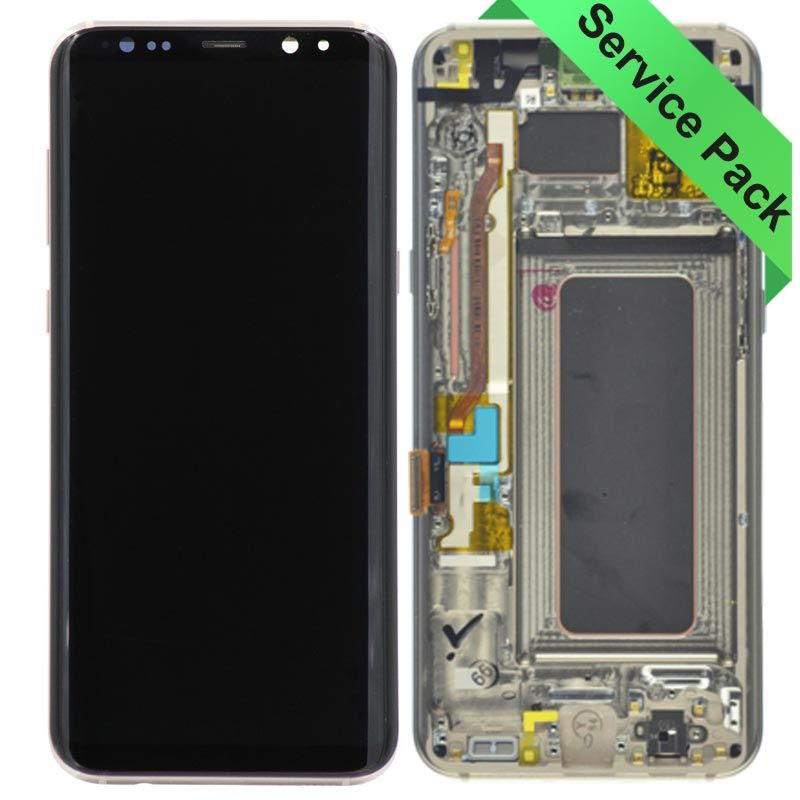 Samsung Galaxy S8 Plus Lcd Touch Screen Glass Digitizer Assembly Gold Injured Gadgets