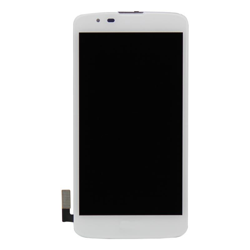 Black Color : White LCD Screen Mobile Phone and Digitizer Full Assembly with Frame for LG K10