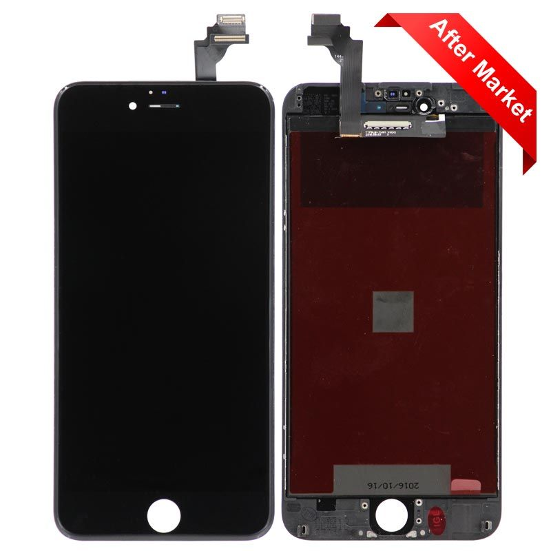online store b85f7 67749 Aftermarket LCD Screen And Digitizer Assembly, Black, For IPhone 6 Plus  (5.5