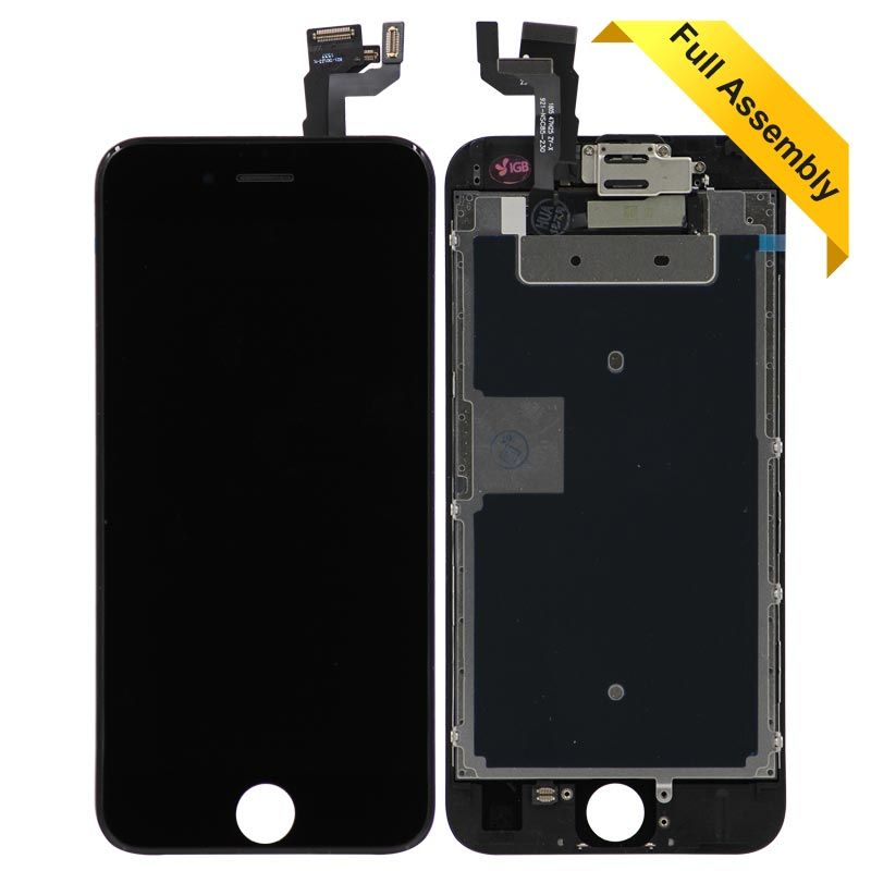 new style 2b624 2328a Full Assembly Touch Screen Glass Digitizer & LCD Display For iPhone 6s  (Black) Flex + Front Camera and Proximity Sensor