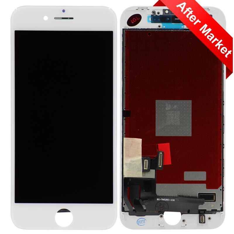 finest selection 15baf 943b5 Aftermarket LCD Screen and Digitizer Assembly, White, for iPhone 8 (4.7