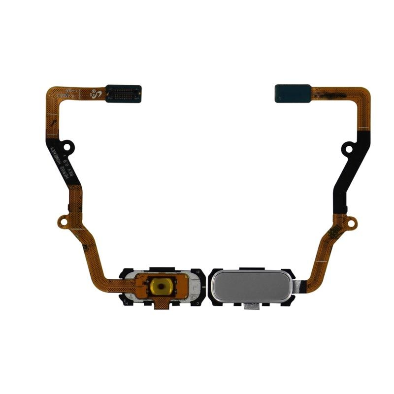 Galaxy S7 Edge Home Button with Flex Cable (Silver)