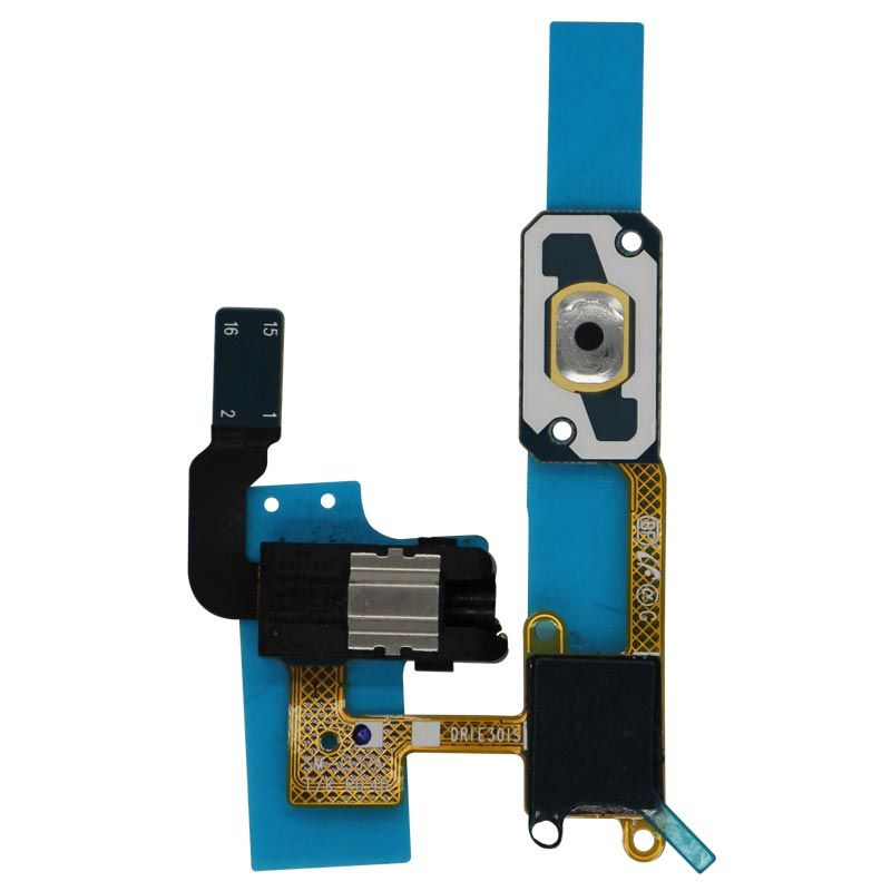 Replacement Headphone Audio Jack with Home Button Sensor Flex Cable for  Samsung Galaxy Samsung Galaxy J3 (J337/2018)