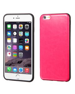 Apple iPhone 6 Plus / 6S Plus - MyBat Candy Skin Leather Cover - Hot Pink
