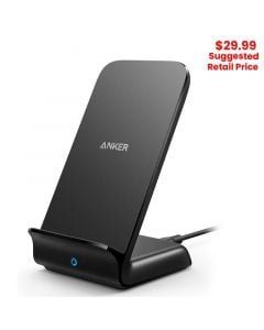 Anker - PowerWave Qi Wireless Charger Stand (AC Adapter Not Included)