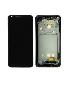 LCD Screen and Digitizer Assembly w/ Frame for LG G6 (Black)