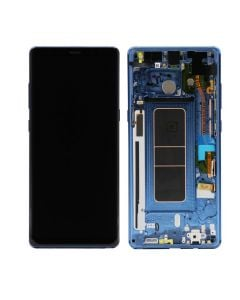 Service Pack - OLED Screen and Digitizer Assembly w/ Frame for Samsung Galaxy Note 8 (N950) (Deep Sea Blue)