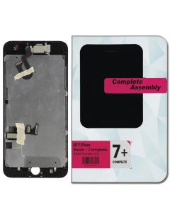 """Full Assembly with All Small Parts Installed. Ear Speaker, Front Camera, Proximity Sensor for iPhone 7 Plus (5.5"""") Black"""