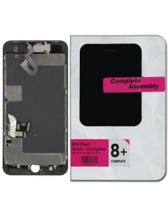 """Full Assembly with All Small Parts Installed. Ear Speaker, Front Camera, Proximity Sensor for iPhone 8 Plus (5.5"""") Black"""