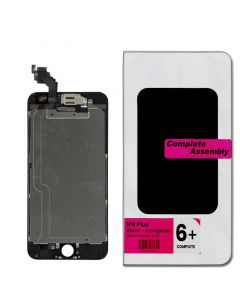 """Full Assembly with All Small Parts Installed. Ear Speaker, Front Camera, Proximity Sensor for iPhone 6 Plus (5.5"""") Black"""