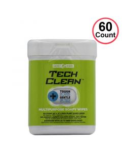 (60 Pack) Gadget Guard - Tech Clean Multipurpose Soapy Wipes
