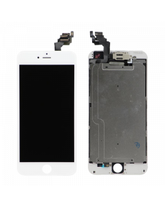 """Full Assembly with All Small Parts Installed. Ear Speaker, Front Camera, Proximity Sensor for iPhone 6 Plus (5.5"""") White"""