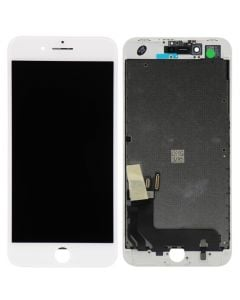 """Premium Quality (Refurbished) LCD Screen and Digitizer Assembly, White, for iPhone 8 Plus (5.5"""")"""