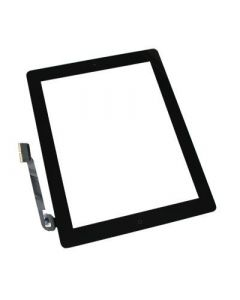 Aftermarket w/ Home Button - Glass and Digitizer Touch Panel for iPad 3 (Black)