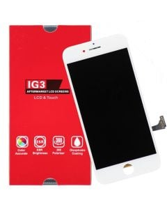 IG3 - Aftermarket LCD Screen and Digitizer Assembly, for iPhone 7 (White)