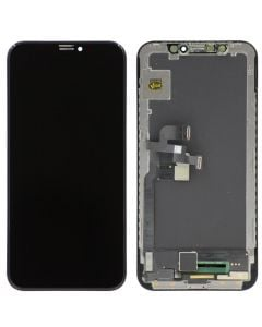 Soft OLED Screen and Digitizer Assembly (JK Brand) , Black, for iPhone X