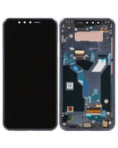 OLED Screen and Digitizer Assembly w/ Frame for LG G8S ThinQ (Mirror Black)