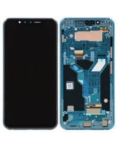 OLED Screen and Digitizer Assembly w/ Frame for LG G8S ThinQ (Mirror Teal)