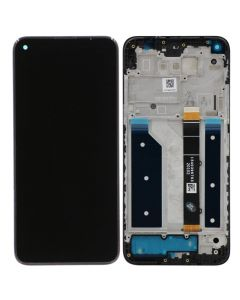 Refurbished - LCD Screen and Digitizer Assembly w/ Frame for LG K61 ThinQ (Black)