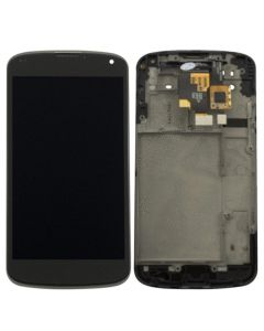 Complete Assembly - LCD Display and Digitizer Assembly w/ Housing for LG Google Nexus 4 (E960)