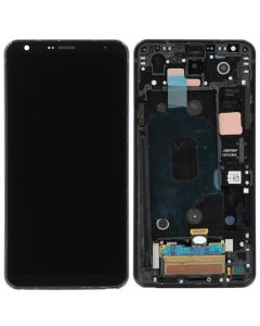 LCD Screen and Digitizer Assembly w/ Frame for LG Stylo 4 (Black)