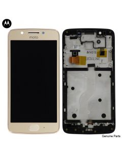 LCD Screen and Digitizer Assembly w/ Frame for Motorola Moto G5 (XT1670) (Gold)