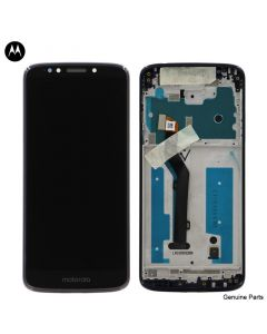 LCD Screen and Digitizer Assembly w/ Frame for Motorola Moto G6 Play (XT1922) (Gray)