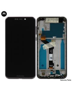 LCD Screen and Digitizer Assembly w/ Frame for Motorola Moto One (XT1941) (Black)