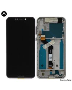 LCD Screen and Digitizer Assembly w/ Frame for Motorola Moto One (XT1941) (White)