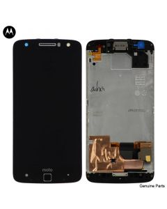 LCD Screen and Digitizer Assembly w/ Frame for Motorola Moto Z Force Droid (XT1650-02) (Black)
