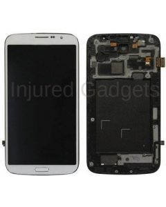 Complete Assembly - LCD Screen and Digitizer Assembly w/ Frame for Samsung Galaxy Mega (I9200 / I9205 / I527) (White)
