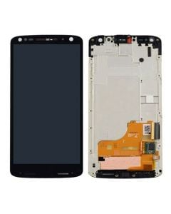 LCD Screen and Digitizer Assembly w/ Frame for Motorola Droid Turbo 2 (Black)