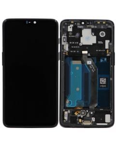 LCD Screen and Digitizer Assembly w/ Frame for OnePlus 6 (Black)
