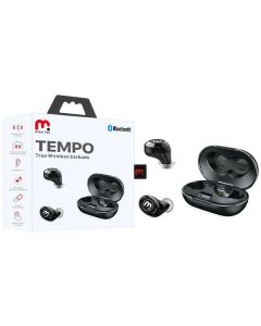 MyBat Pro Tempo True Wireless Earbuds with Charging Case - Black