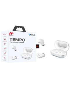 MyBat Pro Tempo True Wireless Earbuds with Charging Case - Silver