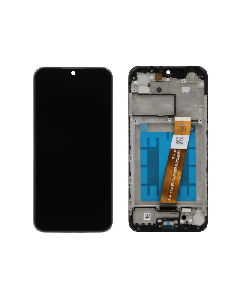 LCD Screen and Digitizer Assembly w/ Frame for Samsung Galaxy A01 (Narrow Connector) (USB-C) (A015) (Black)