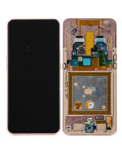 LCD Screen and Digitizer Assembly w/ Frame for Samsung Galaxy A80 (A805) (Angel Gold)