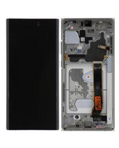 Refurbished - OLED Screen and Digitizer Assembly w/ Frame for Samsung Note 20 Ultra (N985) (Mystic White)