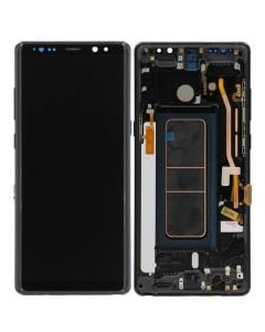 Replacement LCD Digitizer Assembly With Frame, Midnight Black For Samsung Galaxy Note 8 (N950)