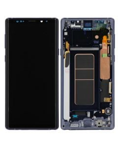 Refurbished - OLED Screen and Digitizer Assembly w/ Frame for Samsung Galaxy Note 9 (N960) (Ocean Blue)