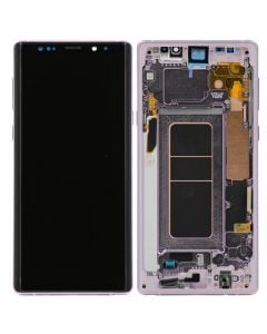 Refurbished - OLED Screen and Digitizer Assembly w/ Frame for Samsung Galaxy Note 9 (N960) (Lavender Purple)