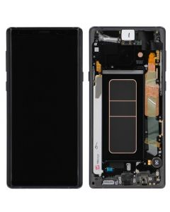 Service Pack - OLED Screen and Digitizer Assembly w/ Frame for Samsung Galaxy Note 9 (N960) (Midnight Black)