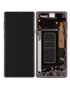 Service Pack - OLED Screen and Digitizer Assembly w/ Frame for Samsung Galaxy Note 9 (N960) (Metallic Copper)