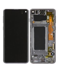OEM Pull - OLED Screen and Digitizer Assembly w/ Frame for Samsung Galaxy S10 (G973) (Grade C) (Prism Black)