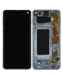 OEM Pull - OLED Screen and Digitizer Assembly w/ Frame for Samsung Galaxy S10 (G973) (Grade C) (Prism Blue)