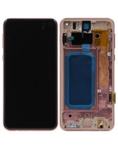 Refurbished - OLED Screen and Digitizer Assembly w/ Frame for Samsung Galaxy S10e (G970) (Flamingo Pink)