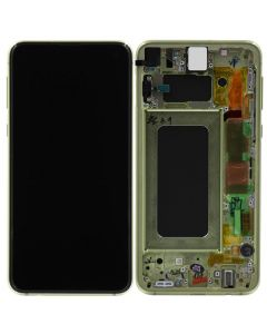 Refurbished - OLED Screen and Digitizer Assembly w/ Frame for Samsung Galaxy S10e (G970) (Canary Yellow)