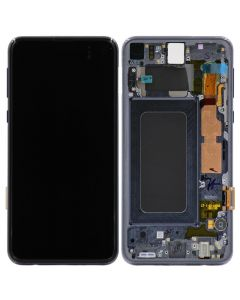 Service Pack - OLED Screen and Digitizer Assembly w/ Frame for Samsung Galaxy S10e (G970) (Prism Black)