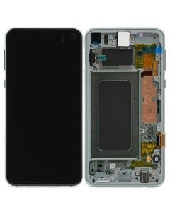 Service Pack - OLED Screen and Digitizer Assembly w/ Frame for Samsung Galaxy S10e (G970) (Prism Green)